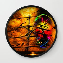 Under sail  Wall Clock
