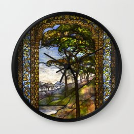 Louis Comfort Tiffany - Decorative stained glass 14. Wall Clock