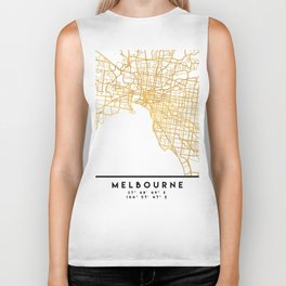 MELBOURNE AUSTRALIA CITY STREET MAP ART Biker Tank