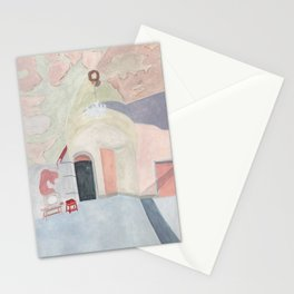 Decay art: pastel Stationery Cards