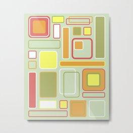 Square upon Squares Metal Print