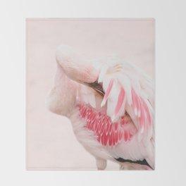 Flamingo pink Throw Blanket
