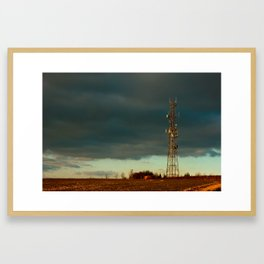 Storm over Combe Framed Art Print