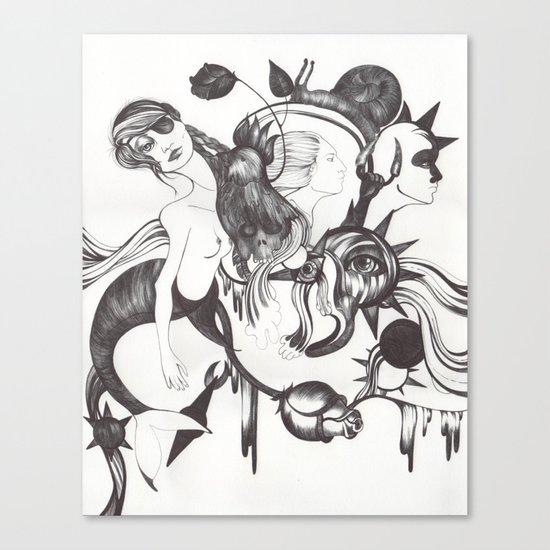 Retrato de Sirena Canvas Print