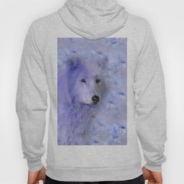 WOLF BLUE LILAC PURPLE FLOWER SPARKLE Hoody