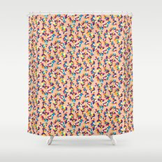 BP 68 Abstract Pebbles Shower Curtain