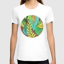 Watercolor leaves of trees T-shirt
