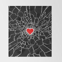 Heartbreaker III Black Throw Blanket