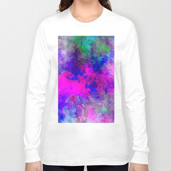 Abstract Space Face 3 Long Sleeve T-shirt