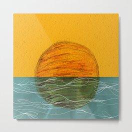 Swimming Sun Metal Print