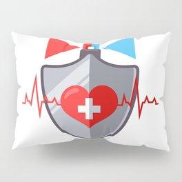 Protecting Human Health From Heart Disease Human Insurance Flat Illustration Pillow Sham
