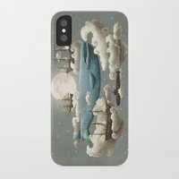 illustration iPhone & iPod Cases featuring Ocean Meets Sky by Terry Fan