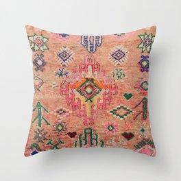 Moroccan Berber Traditional Carpet Throw Pillow
