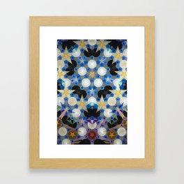 Suspended Stars Framed Art Print