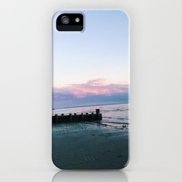 old saybrook town beach sunset photograph iPhone Case