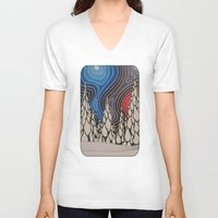 aurora V-neck T-shirts featuring Aurora by The art of Summer Breeze