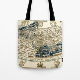 World Map 1482 Tote Bag