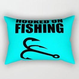Hooked on fishing sports logo Rectangular Pillow