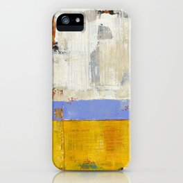 Amenity Abstract Landscape Yellow Modern Shawn McNulty iPhone Case