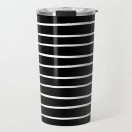 Abstract Stripes in Cream and Black II Travel Mug