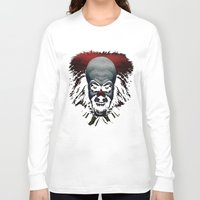 pennywise Long Sleeve T-shirts featuring Pennywise by John Medbury (LAZY J Studios)