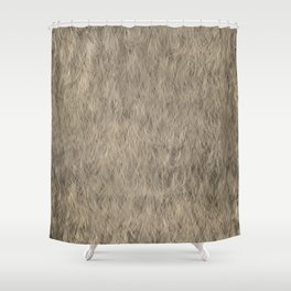 Abstract Fur Texture -Beige Shower Curtain
