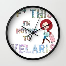Move to Velars Wall Clock
