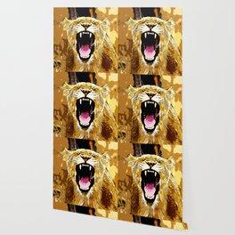 african lioness safari cat v2 vector art Wallpaper