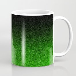 Green & Black Glitter Gradient Coffee Mug