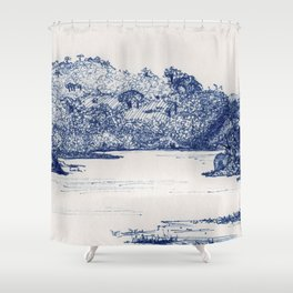 Olifants River, Balule, South Africa Shower Curtain