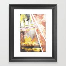 Up All Night Framed Art Print