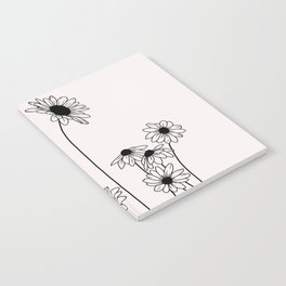 Daisy flowers illustration - Natural Notebook