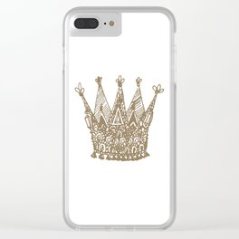 Royal Crown Clear iPhone Case