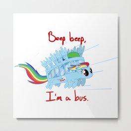 rainbow unicorn bit ghibli Metal Print