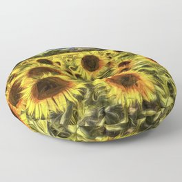 Sunflowers Vincent Van Gogh Floor Pillow