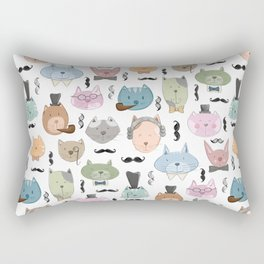 Aristocats Seamless Pattern Rectangular Pillow