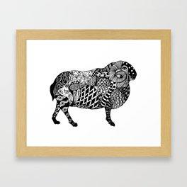 Beatrice the Horned Sheep Framed Art Print