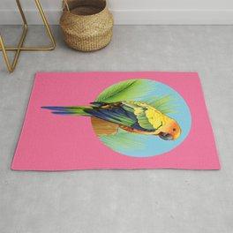 Sun Conure Parrot Rug