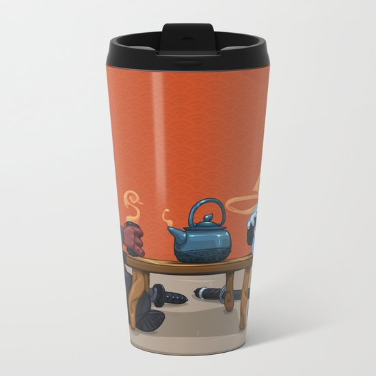 Tea for Two Metal Travel Mug