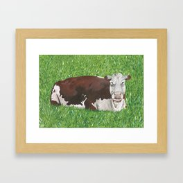 Lineback Cow Painting Framed Art Print