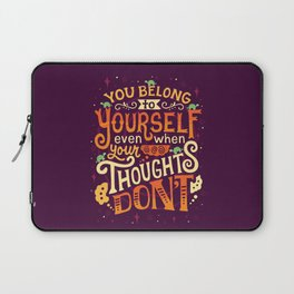 Thoughts are only thoughts Laptop Sleeve