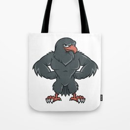 Black Hawk Cartoon  Tote Bag