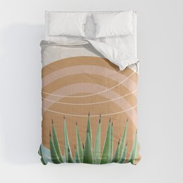 Agave in the Desert Oasis #1 #tropical #wall #art #society6 Comforters