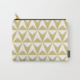 Mid Century Modern Triangle Pattern 531 Gold Carry-All Pouch