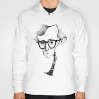woody allen Hoodies featuring Woody Allen by Diego Abelenda