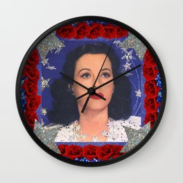 Ziegfeld Girl - Hedy Lamarr - Screen Siren  Wall Clock
