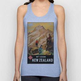Vintage poster - New Zealand Unisex Tank Top