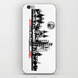 Prague black and white iPhone Skin