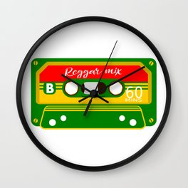 REGGAE MIX TAPE Wall Clock