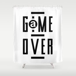 Game Over Modern Video Games Gaming gift  Shower Curtain